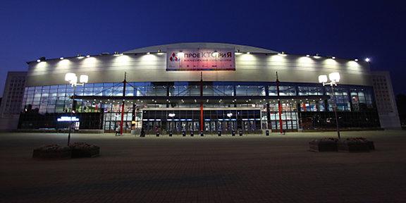 Ледовый дворец «Арена-2000» вечером
